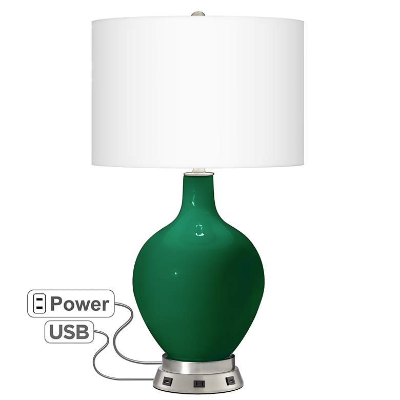 Greens Ovo Table Lamp with USB Workstation Base