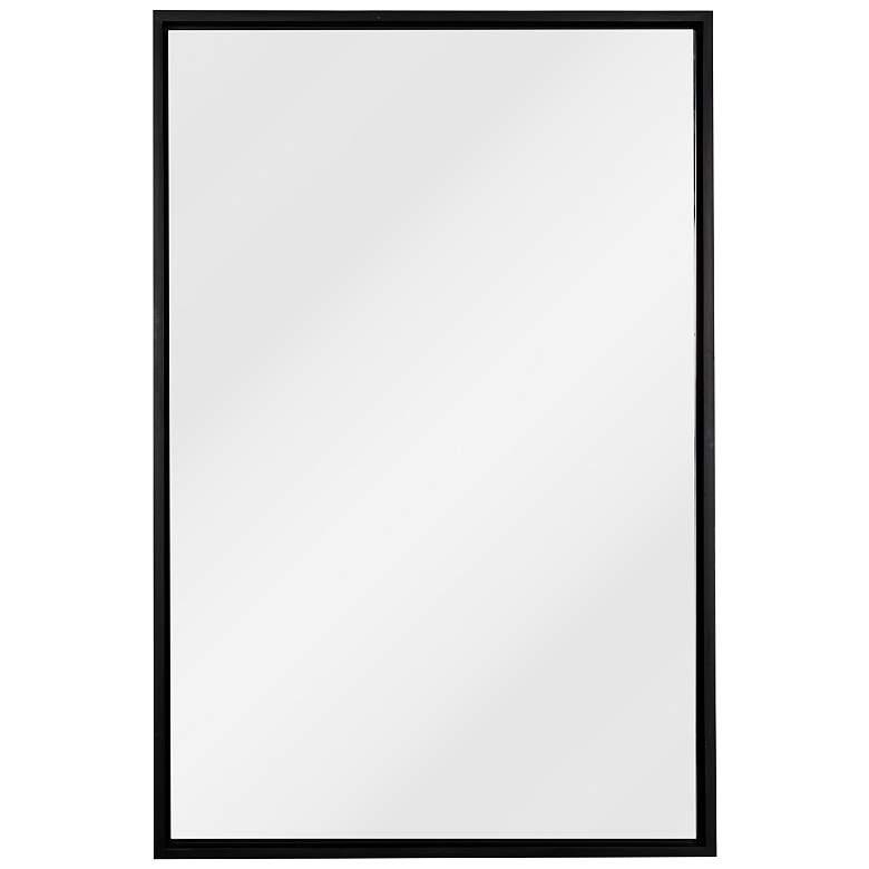 """Cooper Classics Jordan Matte Black 24"""" x 36"""" Wall Mirror"""