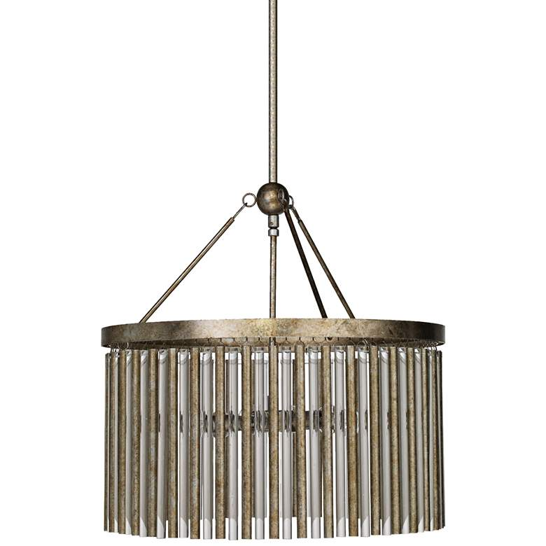 """Jamie Young Andromeda 23 1/2"""" Wide Champagne Leaf Chandelier"""