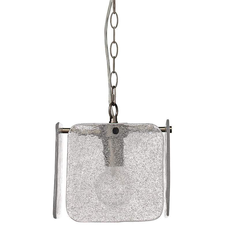 "Perignon 10""W Textured Melted Ice Glass 4-Panel Mini Pendant"