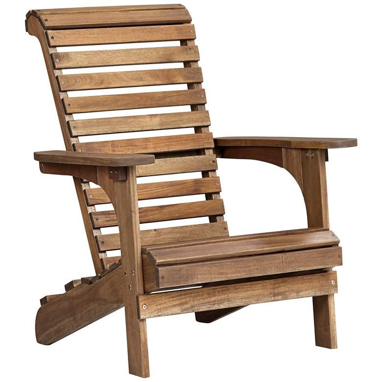 Kenneth Acacia Natural Wood Adirondack Chair