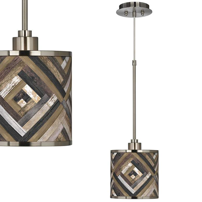 Woodwork Diamonds Giclee Glow Mini Pendant Light
