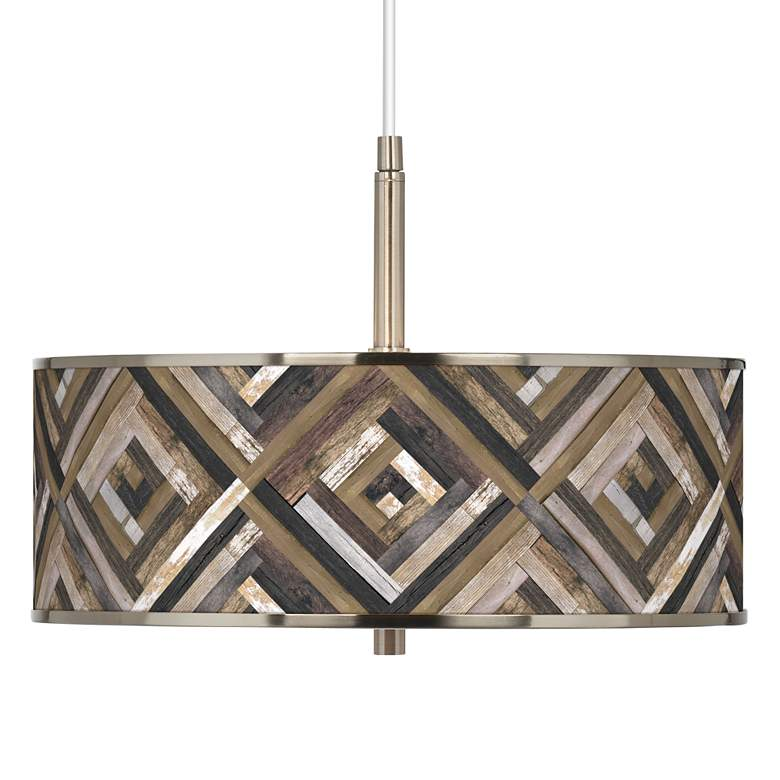 "Woodwork Diamonds Giclee Glow 16"" Wide Pendant Light"