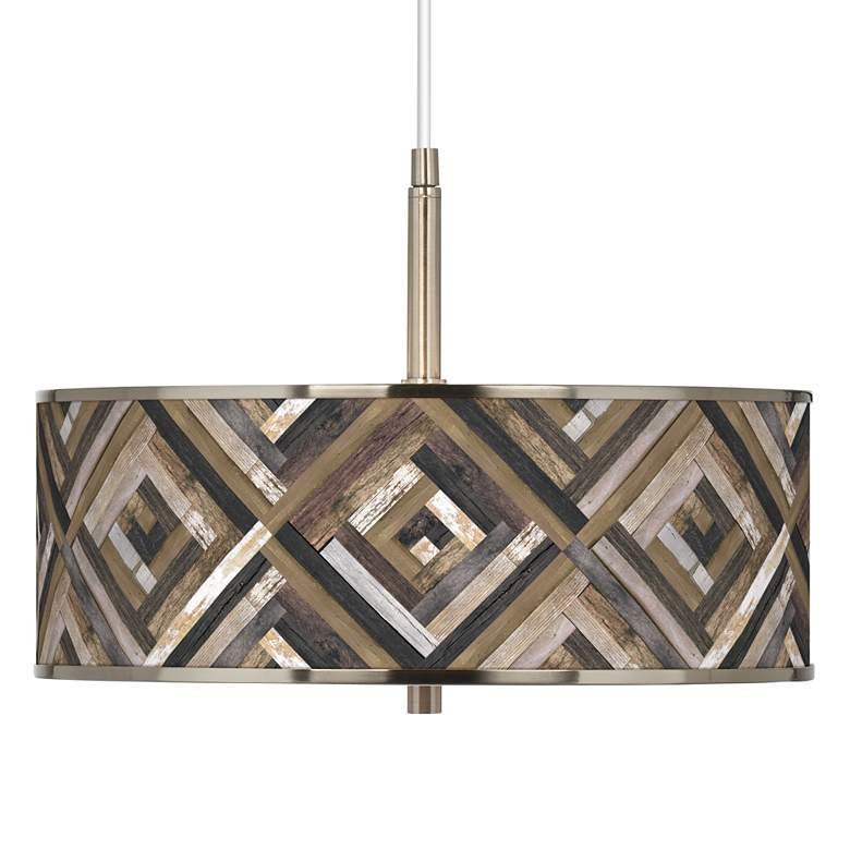 "Woodwork Diamonds Giclee Glow 16"" Wide Pendant Light"