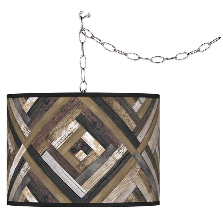 Woodwork Diamonds Giclee Glow Plug-In Swag Pendant