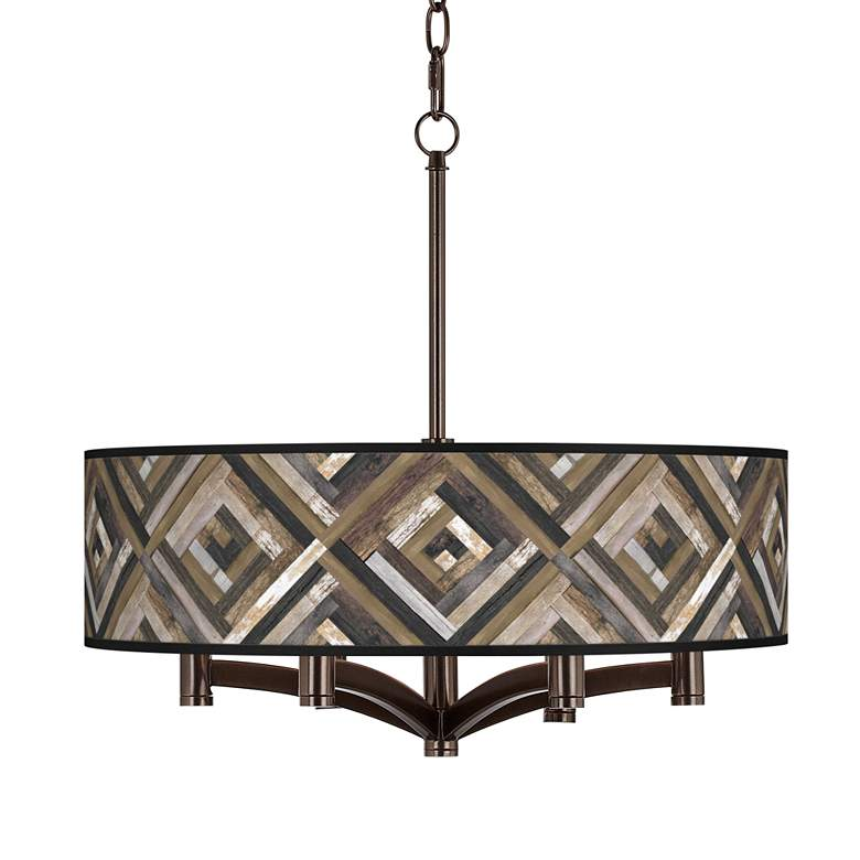 Woodwork Diamonds Ava 6-Light Bronze Pendant Chandelier