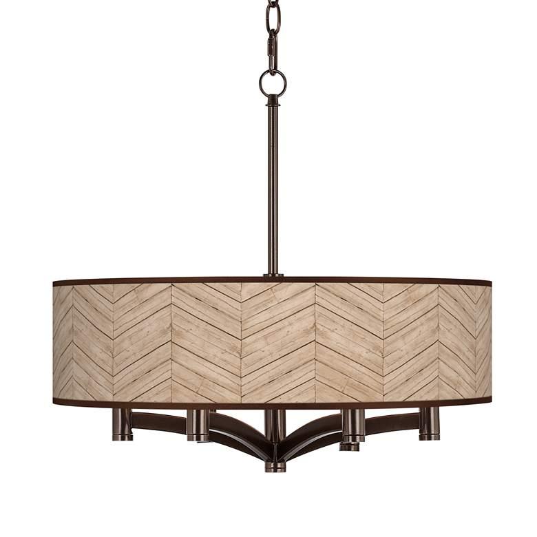 Rustic Woodwork Ava 6-Light Bronze Pendant Chandelier