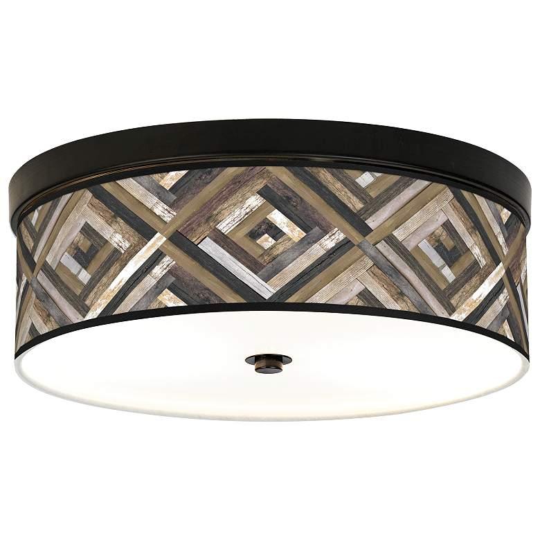 Woodwork Diamonds Giclee Energy Efficient Bronze Ceiling Light