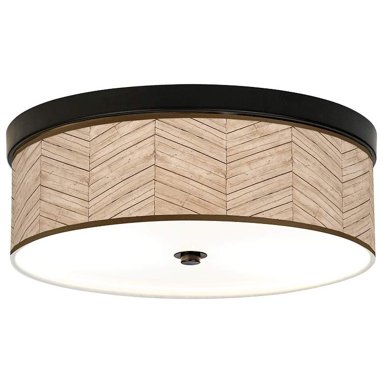 Rustic Woodwork Giclee Energy Efficient Bronze Ceiling Light