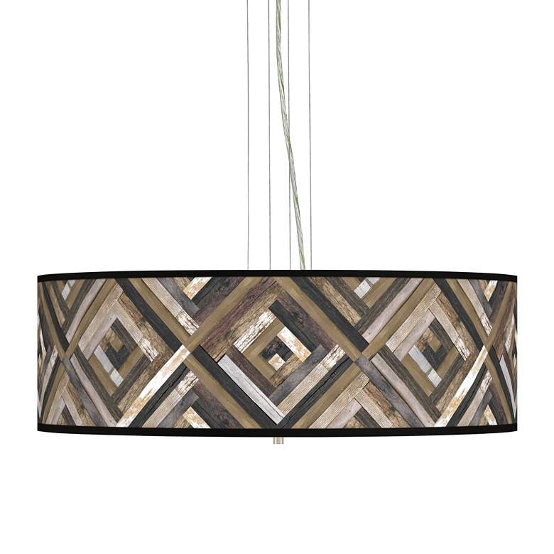 "Woodwork Diamonds Giclee 24"" Wide 4-Light Pendant Chandelier"