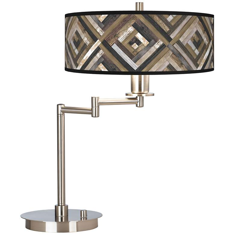 Woodwork Diamonds Giclee Swing Arm LED Desk Lamp