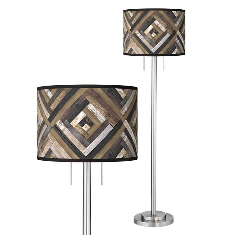 Woodwork Diamonds Giclee Brushed Nickel Garth Floor Lamp