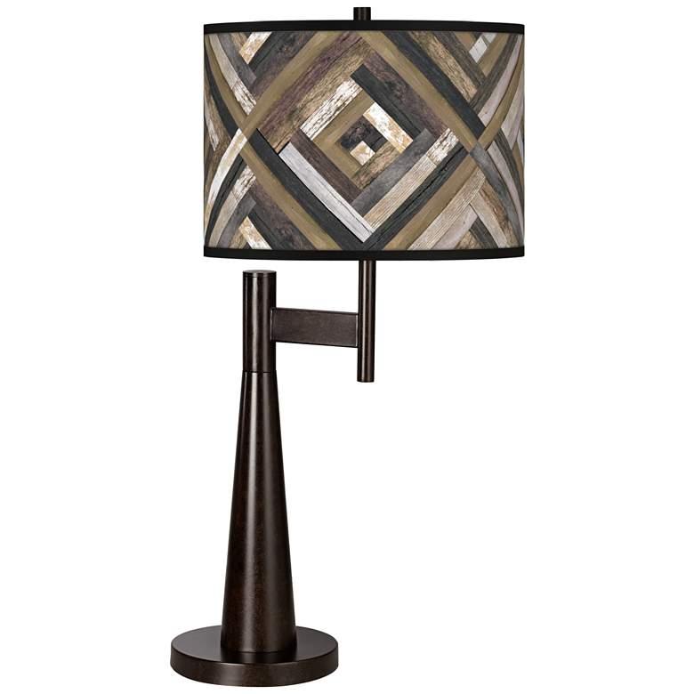 Woodwork Diamonds Giclee Novo Table Lamp