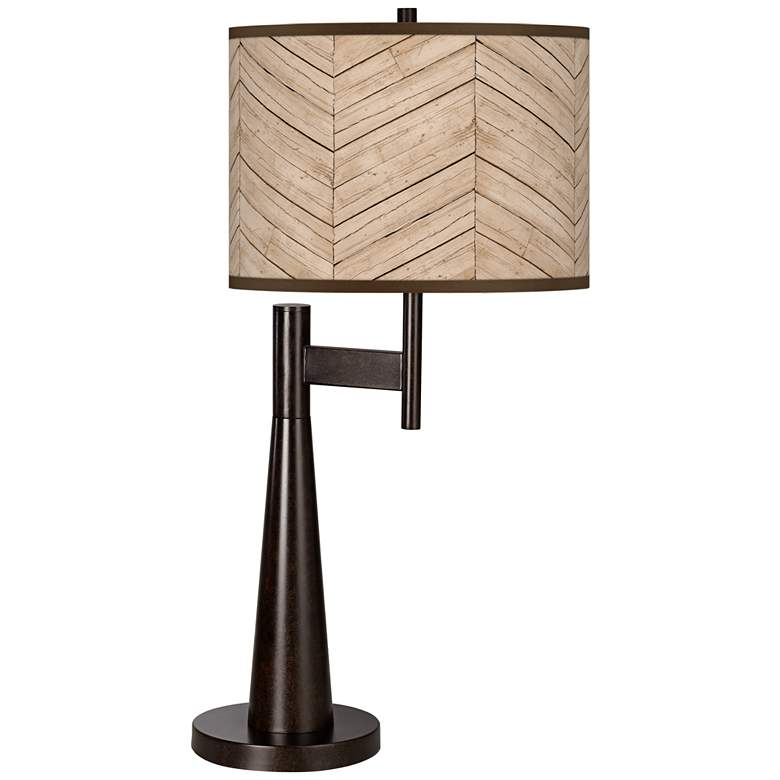 Rustic Woodwork Giclee Novo Table Lamp