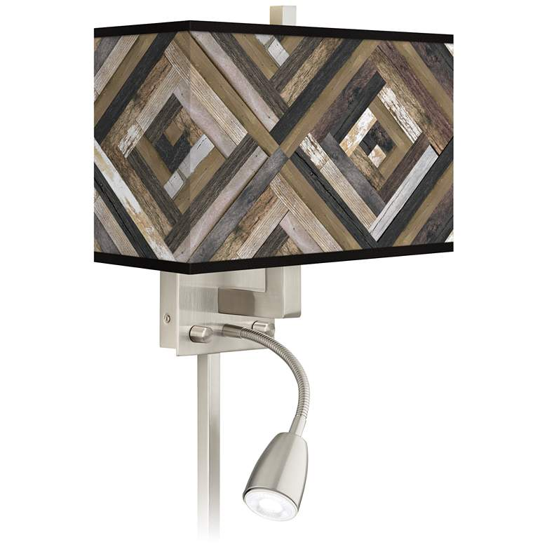 Woodwork Diamonds Giclee Glow LED Reading Light Plug-In Sconce