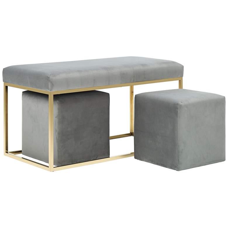 Inspire Me! Home Decor Lila Tri 3-Piece Velvet Bench Set