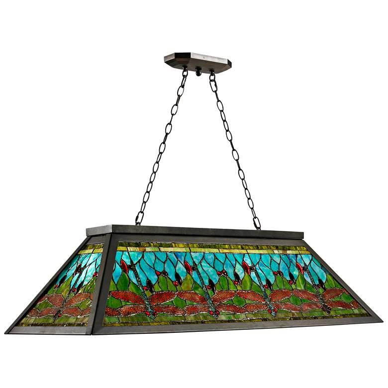"Glade 44"" Wide Art Glass Kitchen Island Light Pendant"