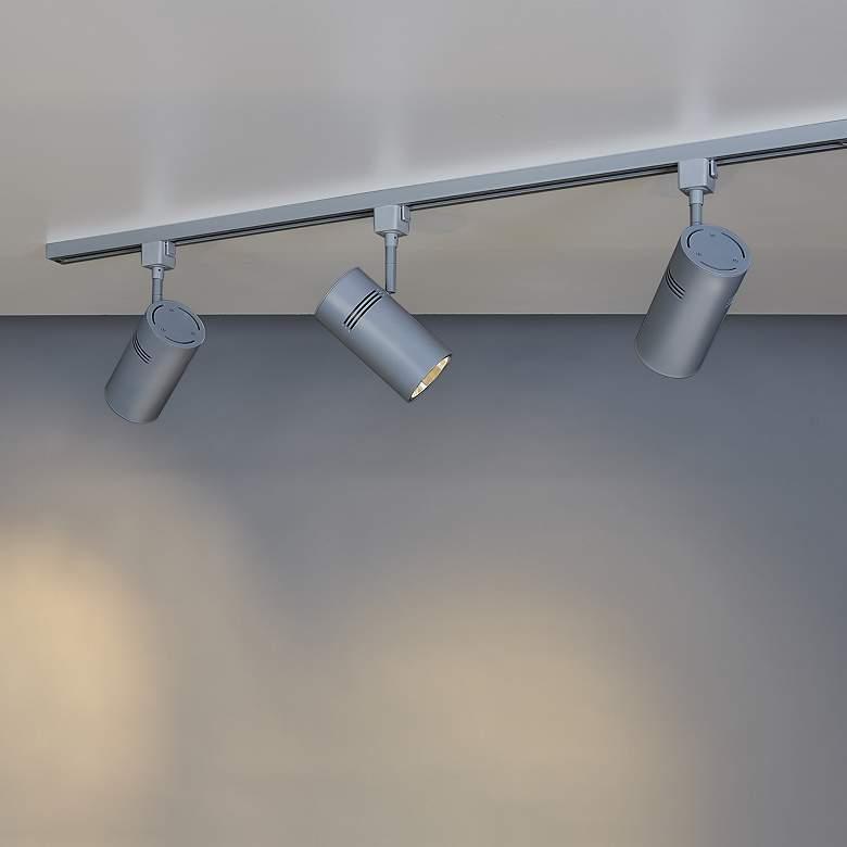 Bruck Eco System 3-Light Matte Silver LED Track