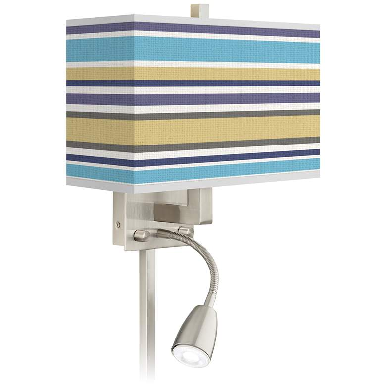 Laguna Stripes Giclee Glow LED Reading Light Plug-In Sconce