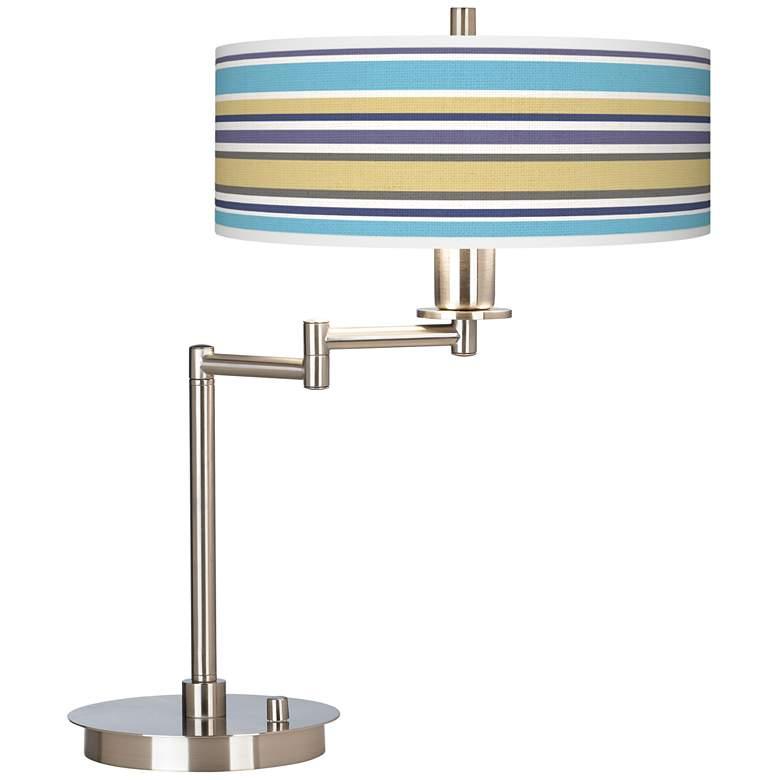 Laguna Stripes Giclee CFL Swing Arm Desk Lamp