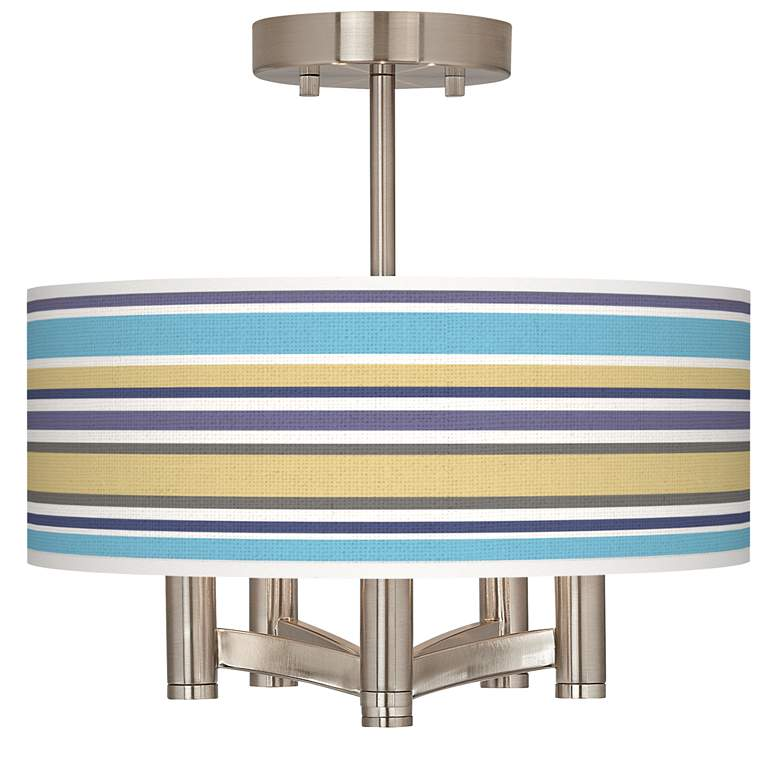 Laguna Stripes Ava 5-Light Nickel Ceiling Light