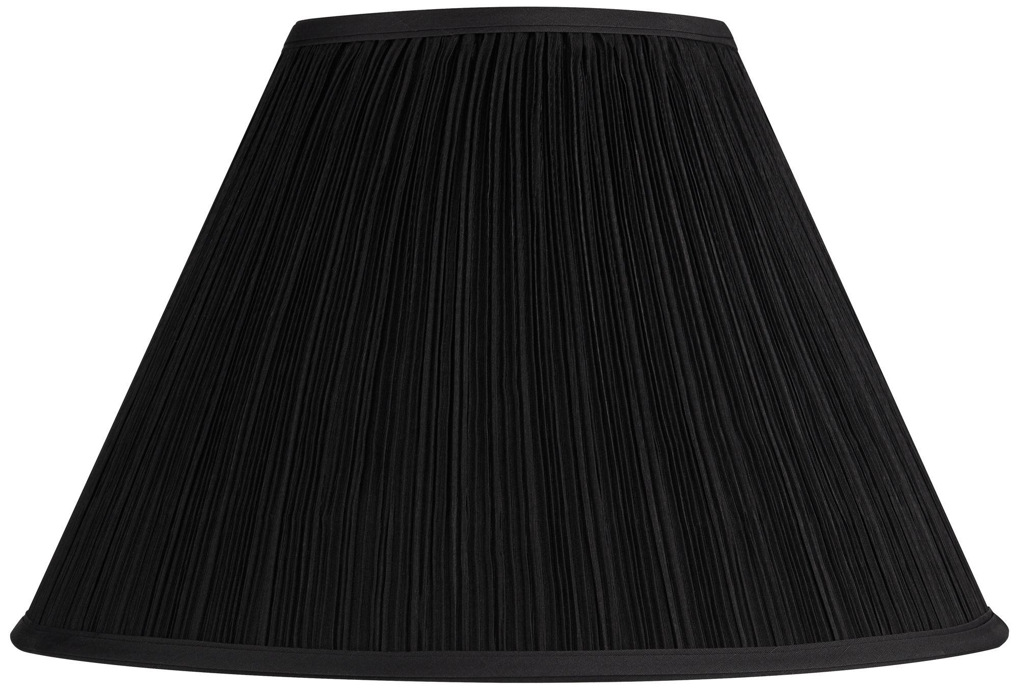 Black Mushroom Pleated Lamp Shade 7x17 X11.5 (Spider)
