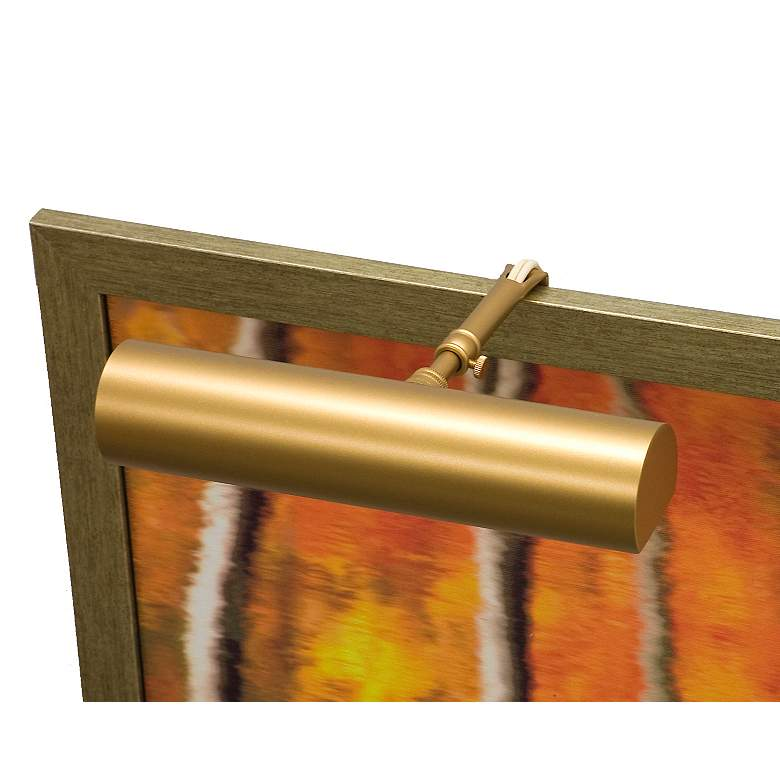 """Classic Contemporary 9"""" Wide Gold Plug-In Picture Light"""