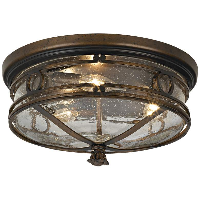 "Beverly Drive 14"" Wide Indoor-Outdoor Ceiling Light"