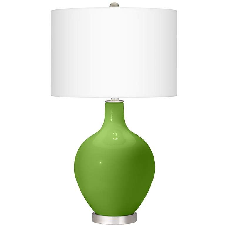 Rosemary Green Ovo Table Lamp With Dimmer