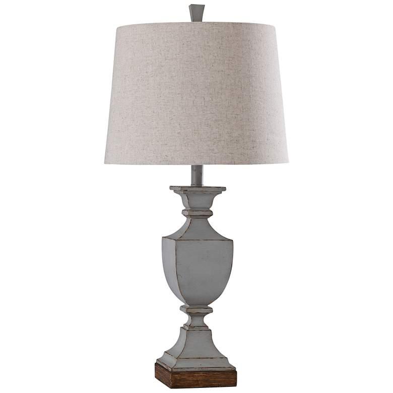 Oldbury Blue Weathered Wood Table Lamp