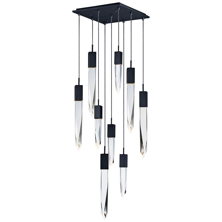 "ET2 Quartz 15 3/4"" Wide Black 9-Light LED Pendant"