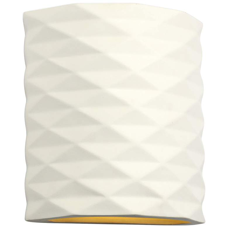 """Jaken 9 3/4"""" High Paintable White Bisque Outdoor Wall Light"""