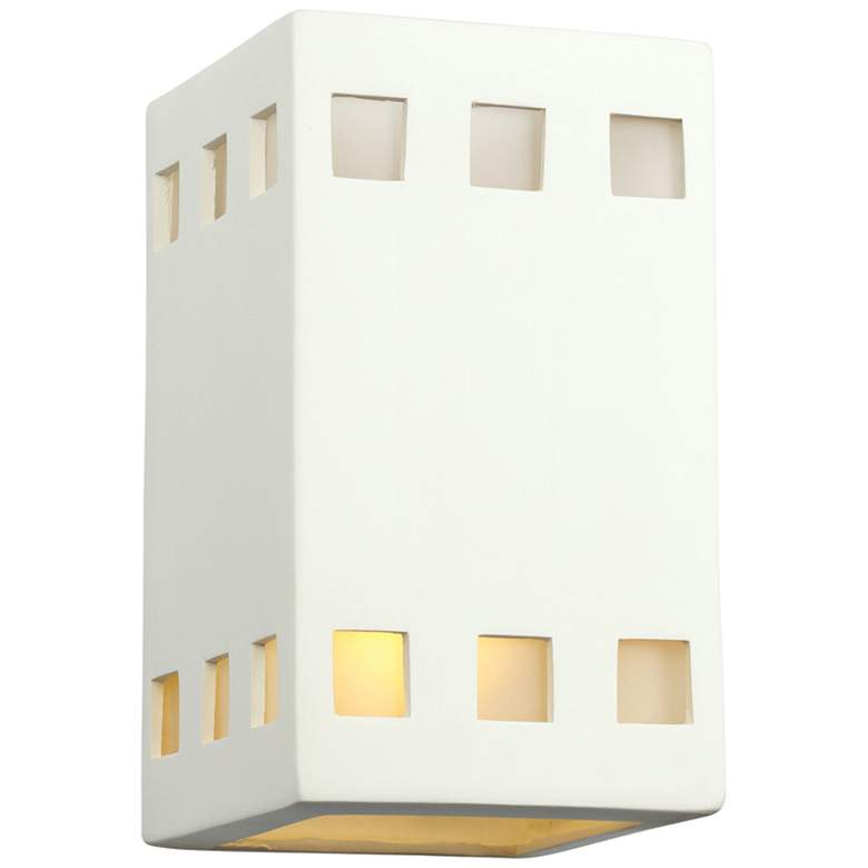 """Jaken 9 1/2"""" High Paintable White Bisque Outdoor Wall Light"""
