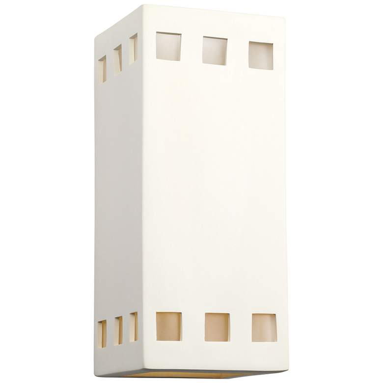 """Jaken 12 1/2"""" High Paintable White Bisque Outdoor Wall Light"""