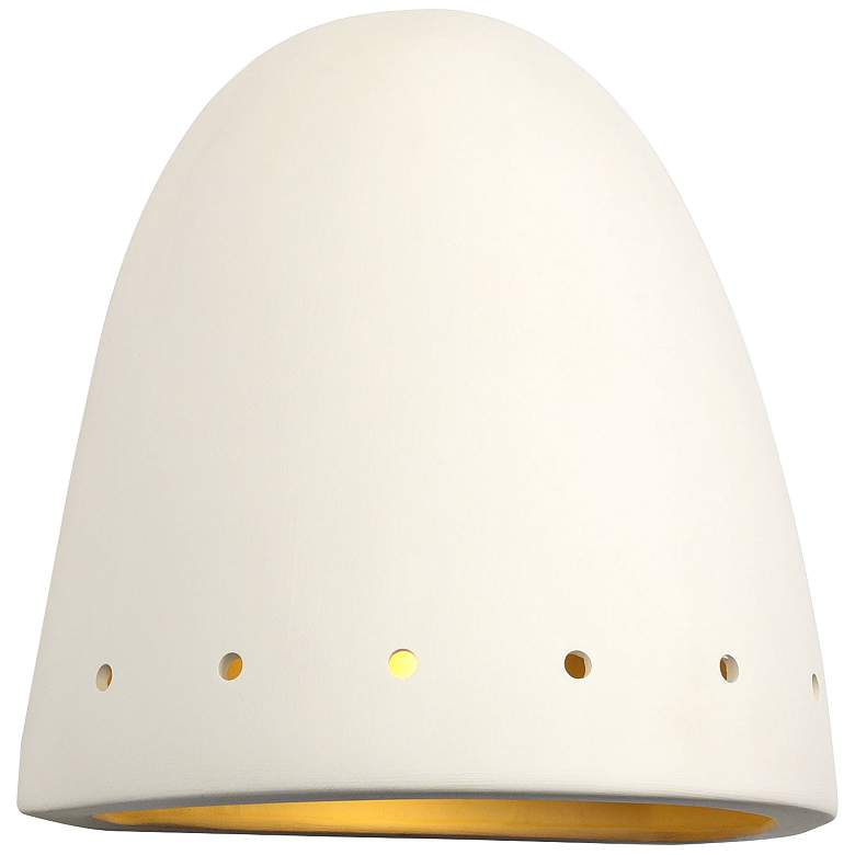 """Jaken 9 1/2""""H Paintable White Bisque Dome Outdoor Wall Light"""