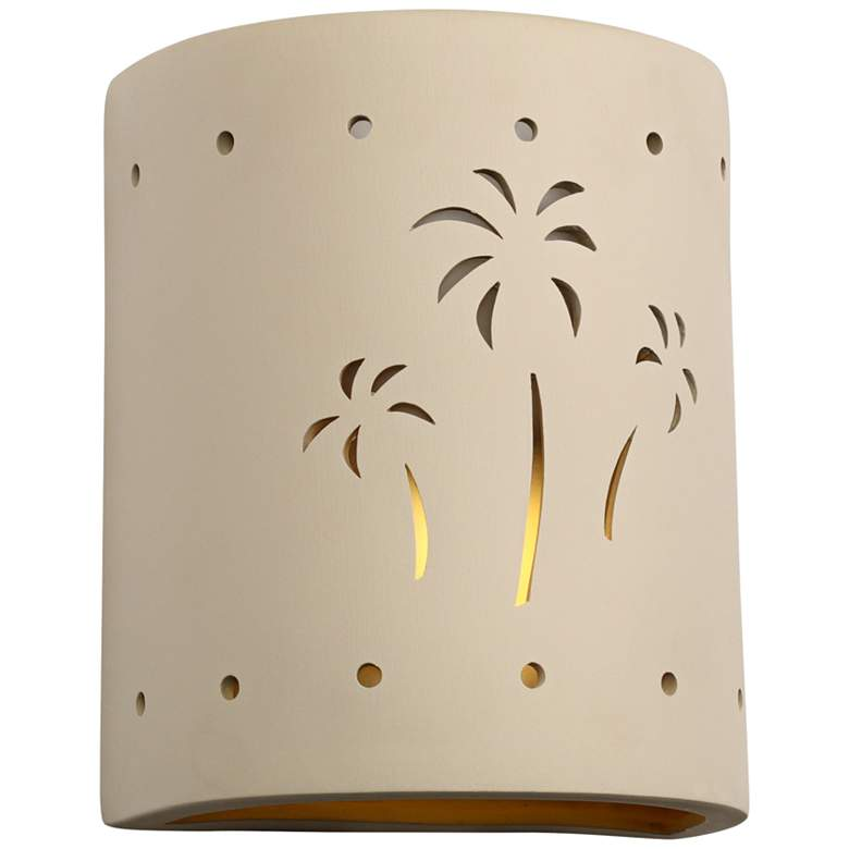 "Mirage Flats 10"" High Cottonwood Ceramic Outdoor Wall Light"