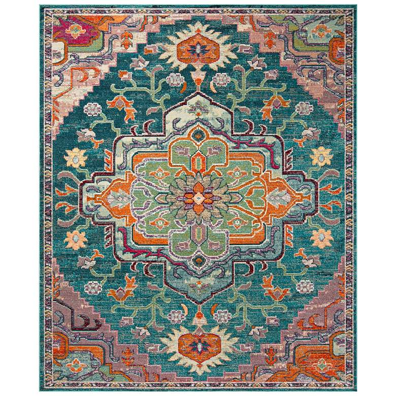 Safavieh CRS501T 5'x8' Teal and Rose Area Rug