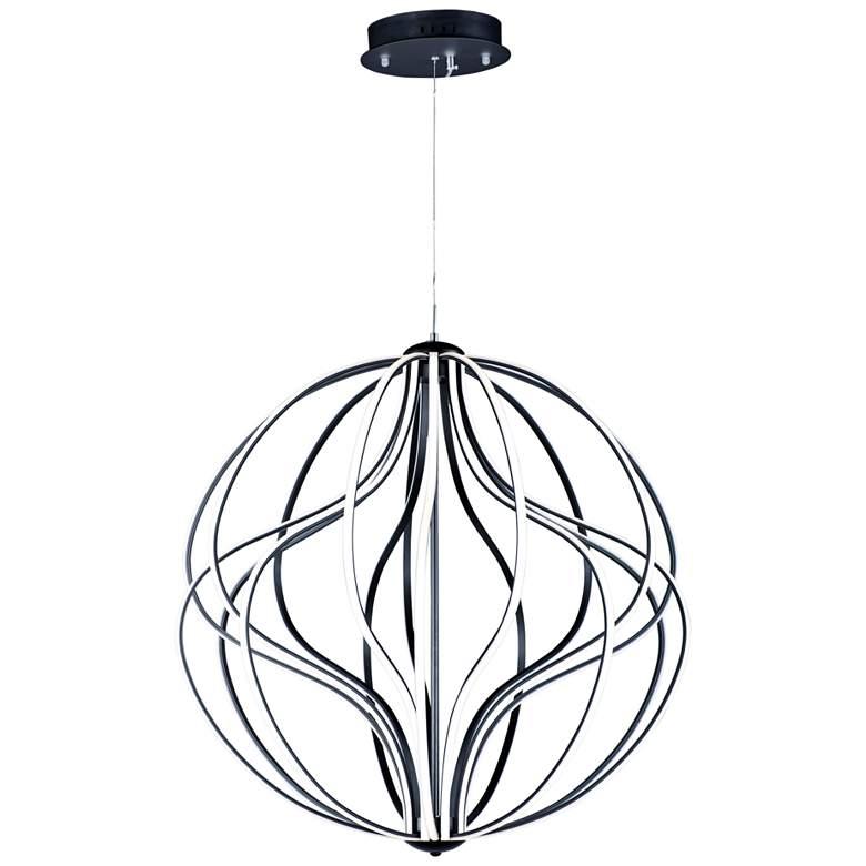 """ET2 Aura 31"""" Wide Black Orb LED Pendant Light"""