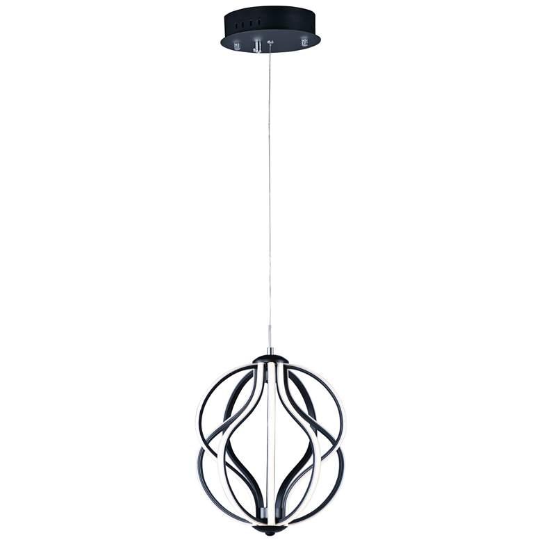 "ET2 Aura 12"" Wide Black Orb LED Mini Pendant"
