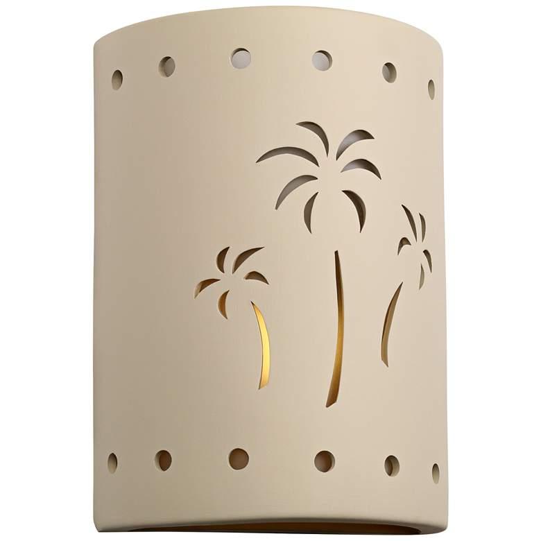 "Mirage Flats 13"" High Cottonwood Ceramic Outdoor Wall Light"