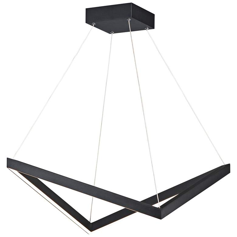 "ET2 Stealth 21 1/4"" Wide Black LED Pendant Light"