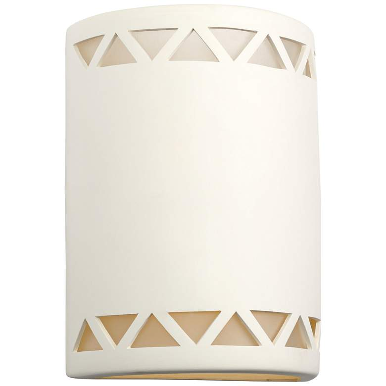 """Jaken 13""""H Paintable White Bisque Ceramic Outdoor Wall Light"""