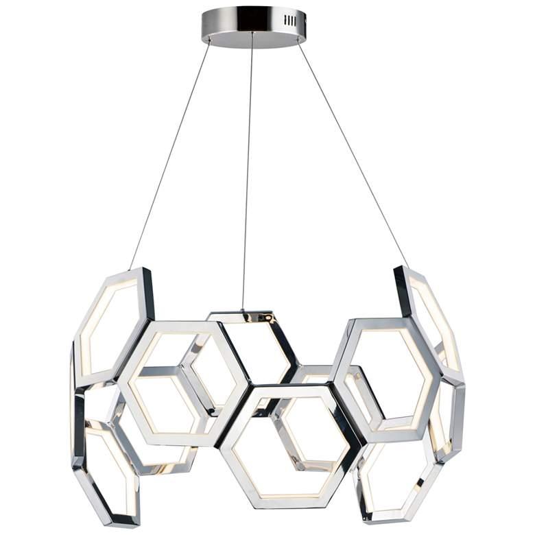 """ET2 Polygon 30"""" Wide Polished Nickel LED Pendant Light"""