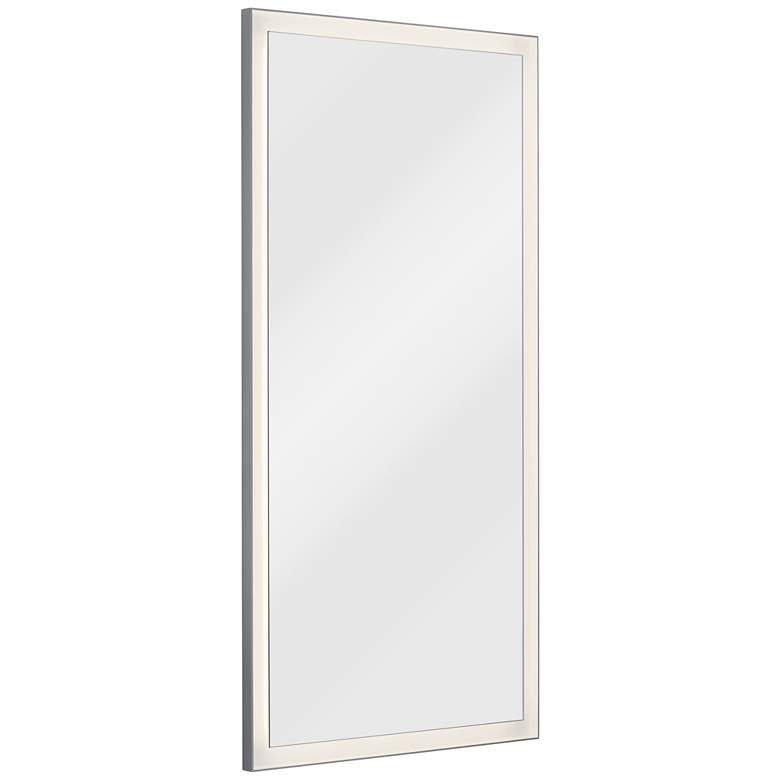 Elan Ryame Matte Silver 30 Quot X60 Quot Led Lighted Wall Mirror