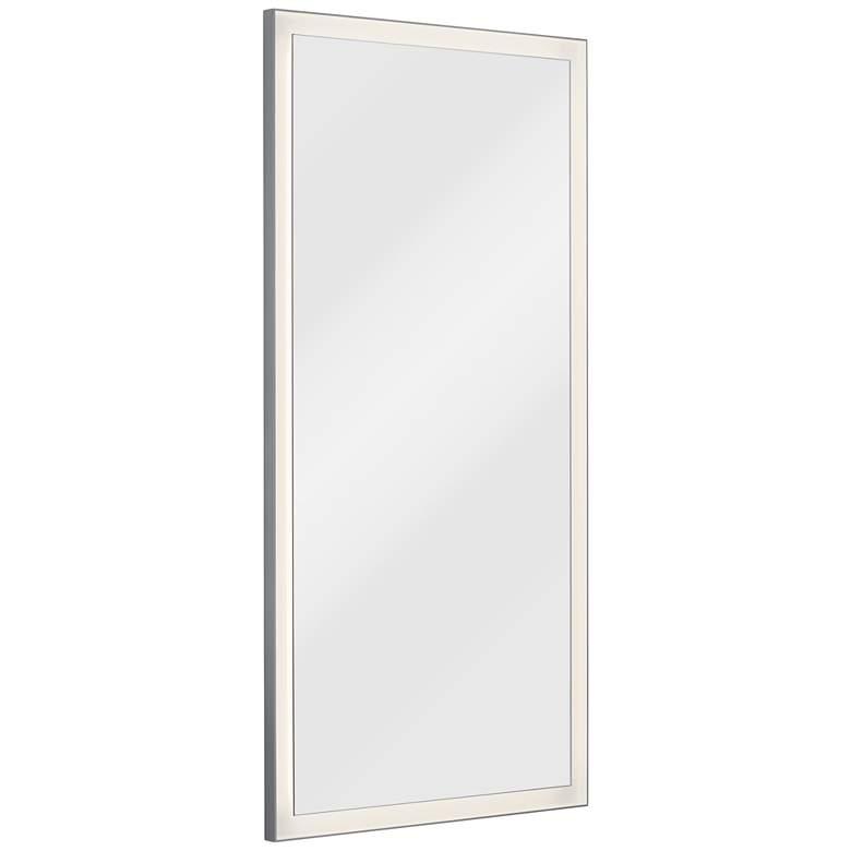 """Elan Ryame Matte Silver 30"""" x 60"""" LED Lighted Wall Mirror"""