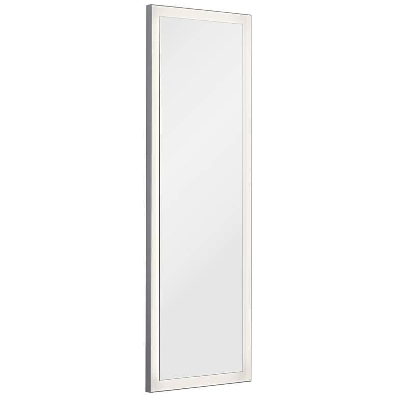 """Elan Ryame Matte Silver 20"""" x 59"""" LED Lighted Wall Mirror"""