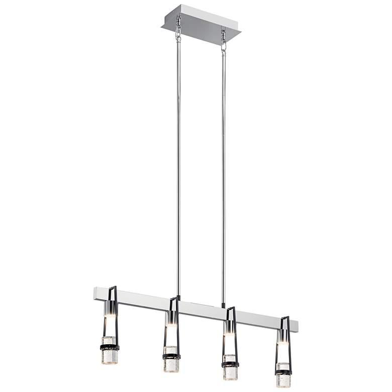 """Sorno 32""""W Polished Nickel LED Kitchen Island Light Pendant"""