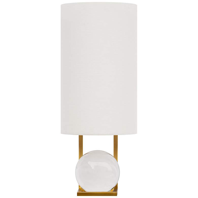 """Seer 16""""H Natural Brass LED Wall Sconce with Crystal Ball"""