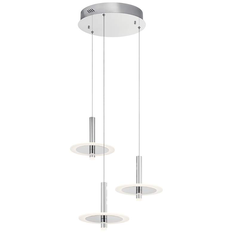 "Elan Discs 22 1/2""W Polished Nickel LED Multi Light Pendant"