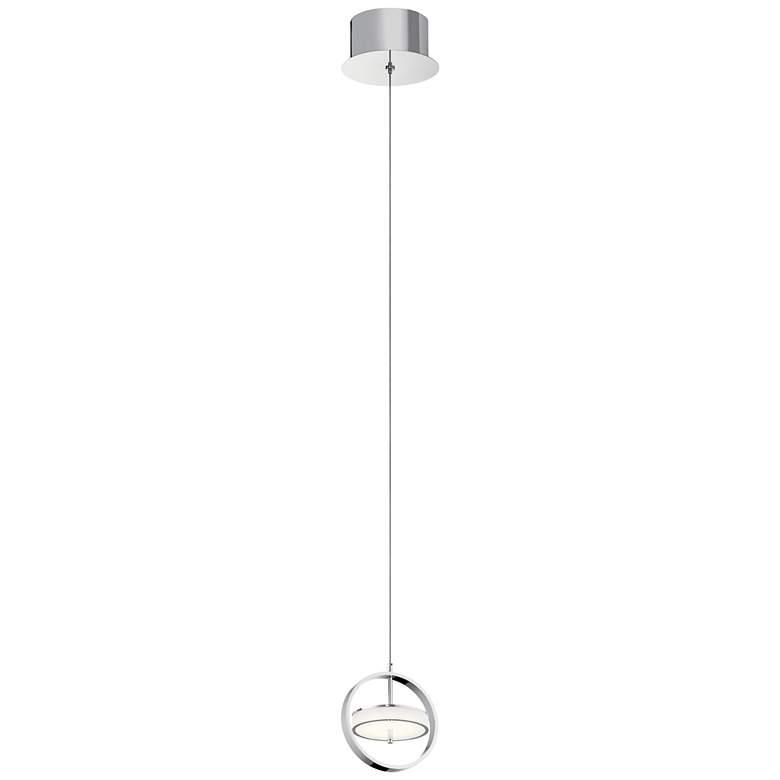 "Elan Metro 6"" Wide Polished Nickel LED Mini Pendant"